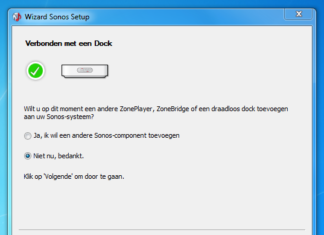 Sonos software controller: Component toevoegen