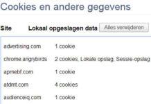 """Naast Cookies ook """"andere opgeslagen data"""""""
