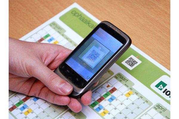Afvalkalender synchroniseren met agenda via QR-codes
