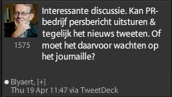 twitterbericht luc blyaert datanews