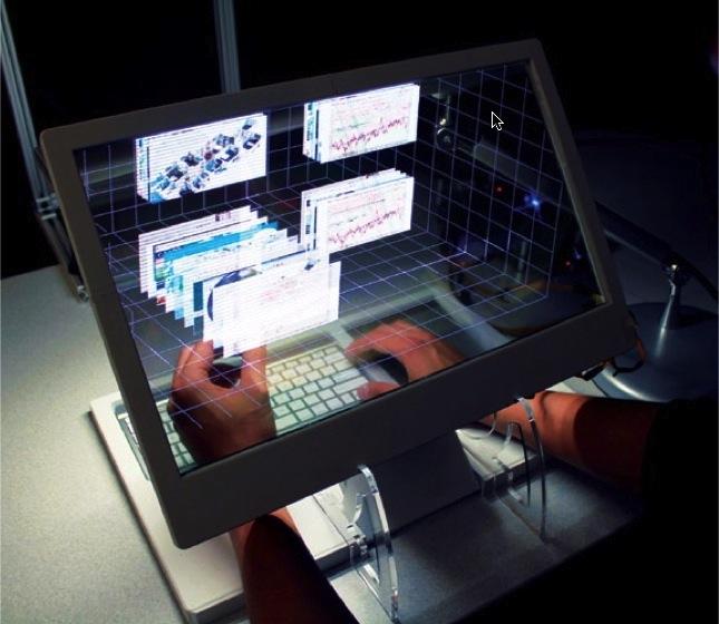 SpaceTop 3D desktop-pc