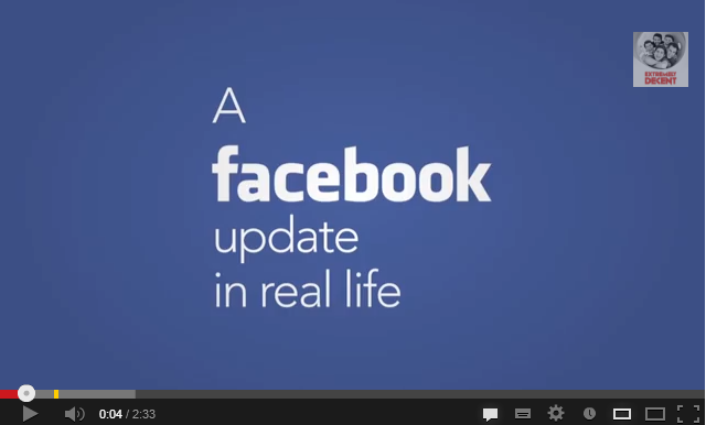 A facebook update in real life