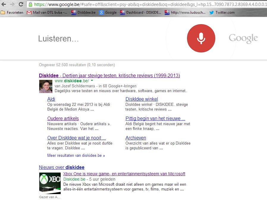 Google zoeken met spraakherkenning