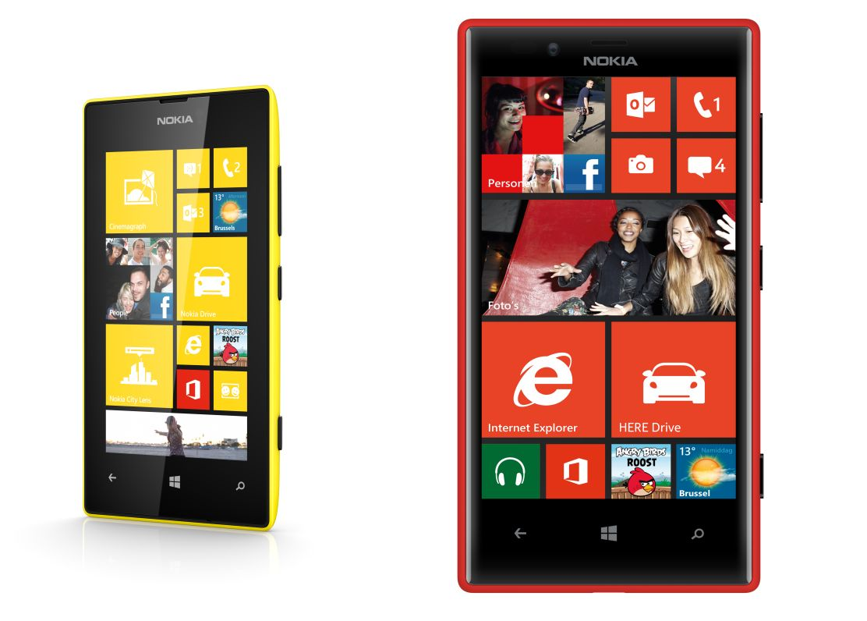 Nokia Lumia 520 en 720