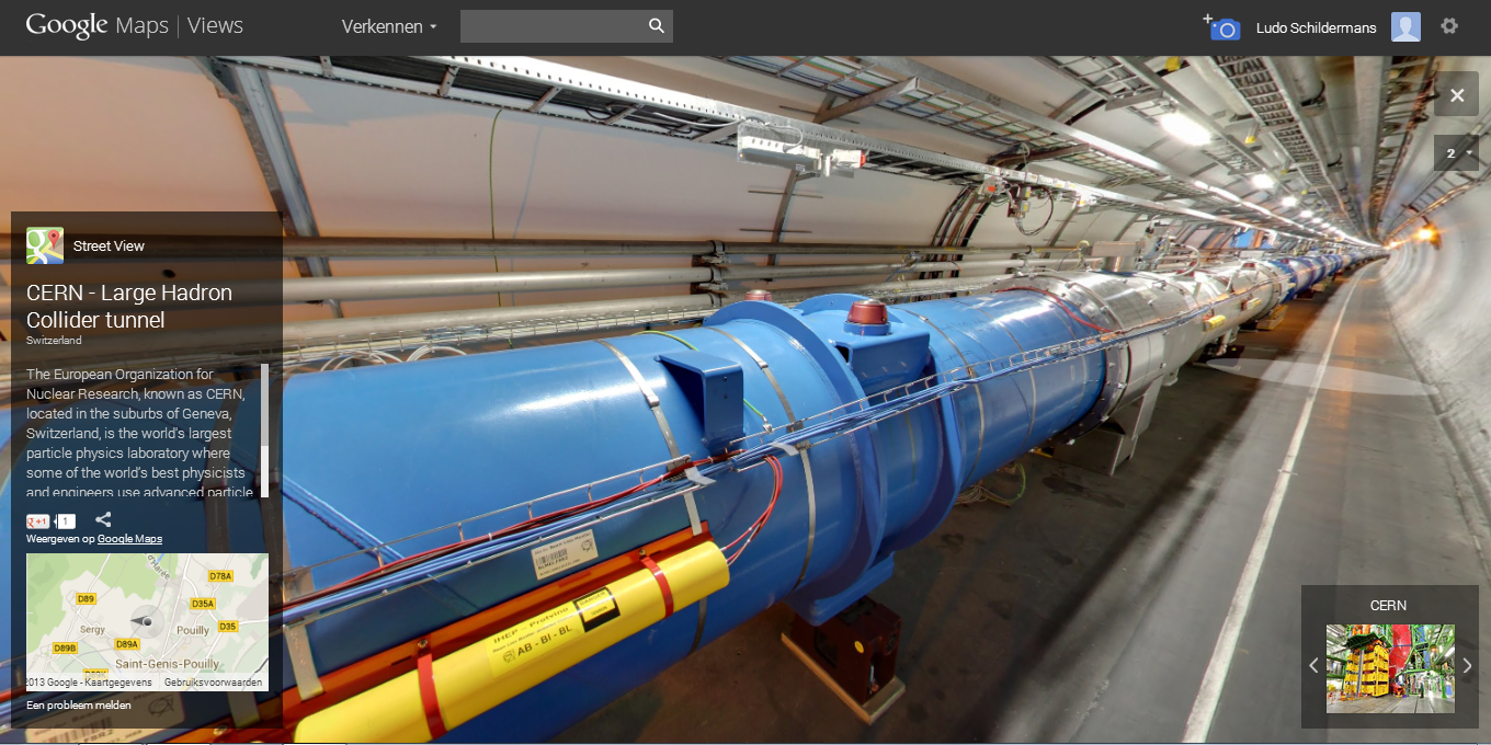 Google Maps Stree tView Cern