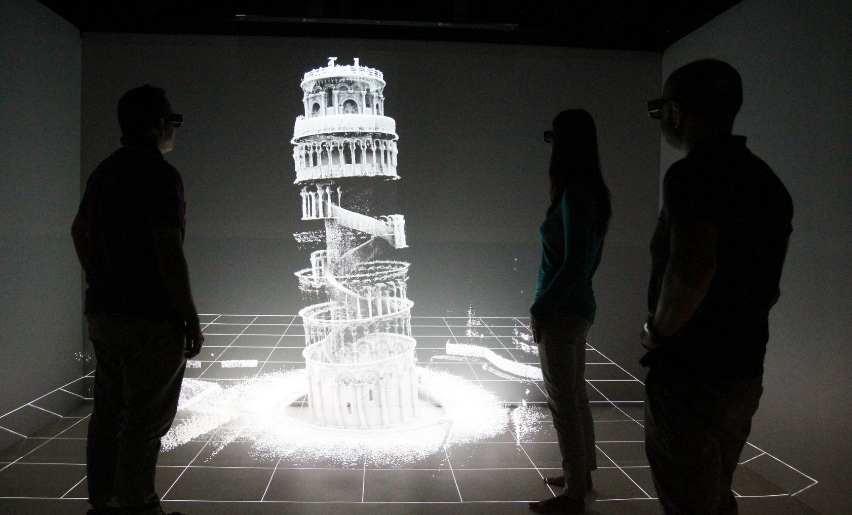 3D-kaart van het interieur van de Scheve Toren van Pisa