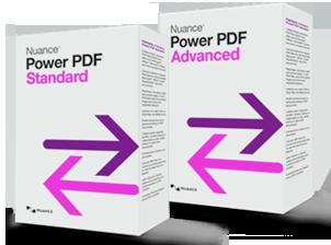 Nunace PowerPDF Standard en Advanced