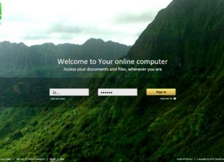 CloudTop inlogpagina