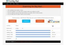 Find Big Mail scan