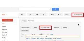 Boomerang app onder Gmail