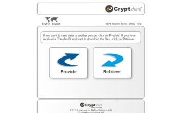Cryptshare web client