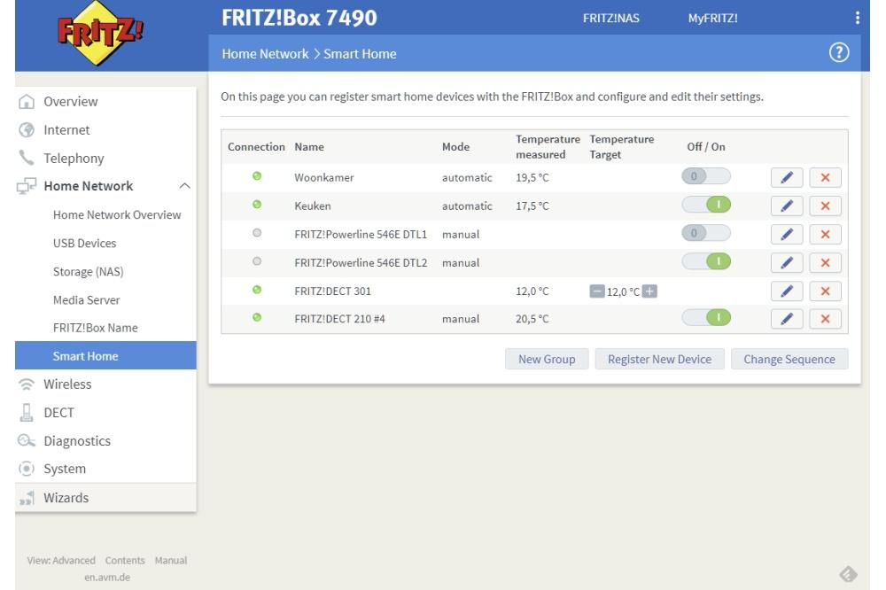 Fritz!Dect 201 routermenu