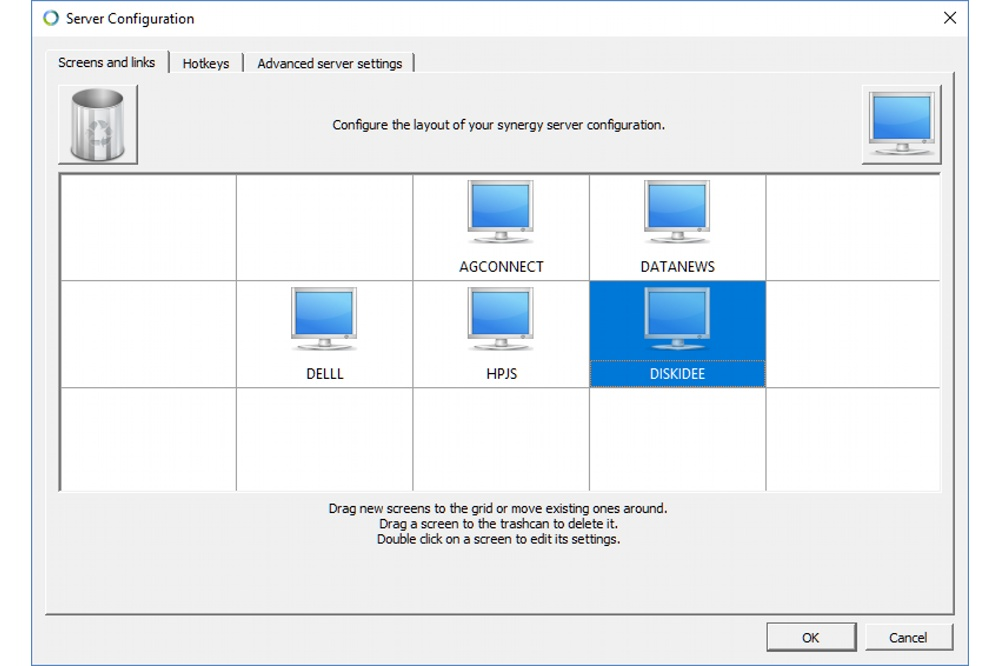 Synergy kvm configuratie