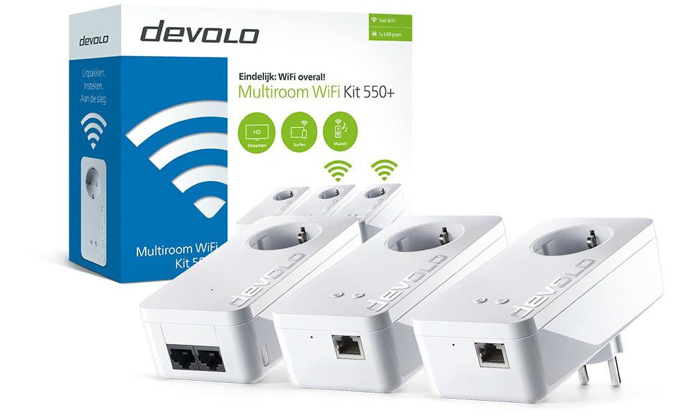 Wifi Op Zolder.Devolo Multiroom Wifi Kit 550 Powerline Adapters Diskidee