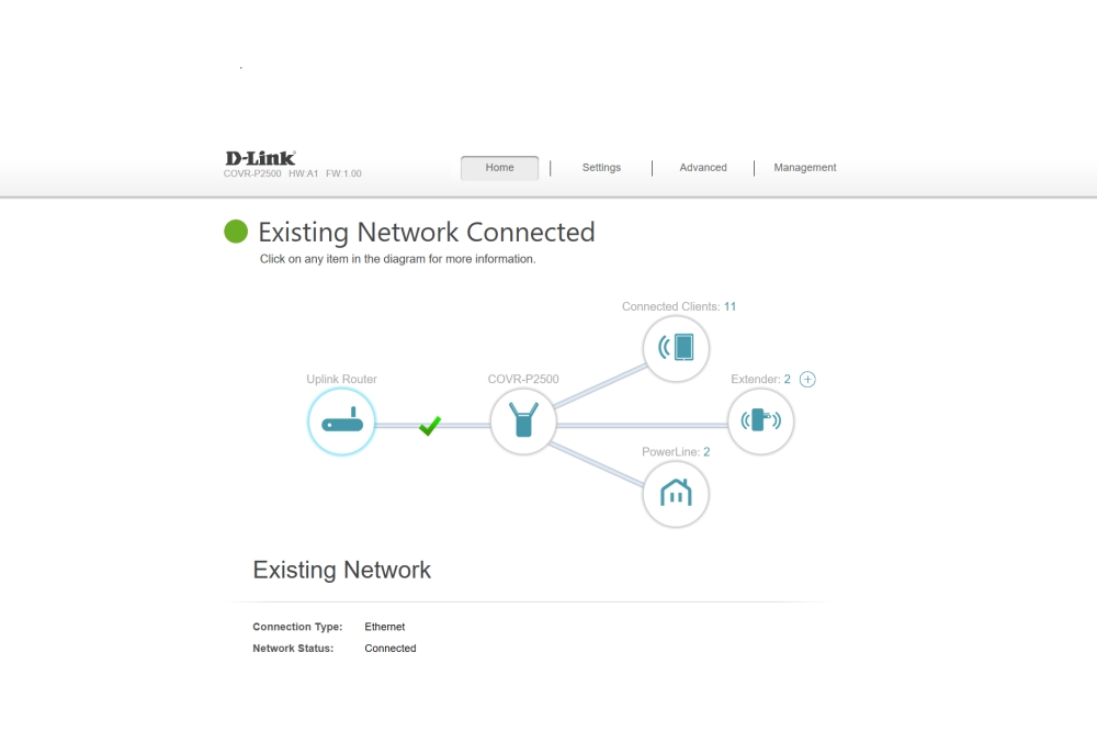 D-Link COVR-P2502 webbeheer