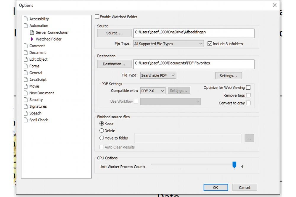 Nuance Power PDF 3 bewaakte mappen