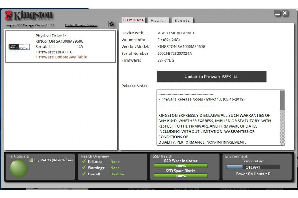 Kingston ssd software