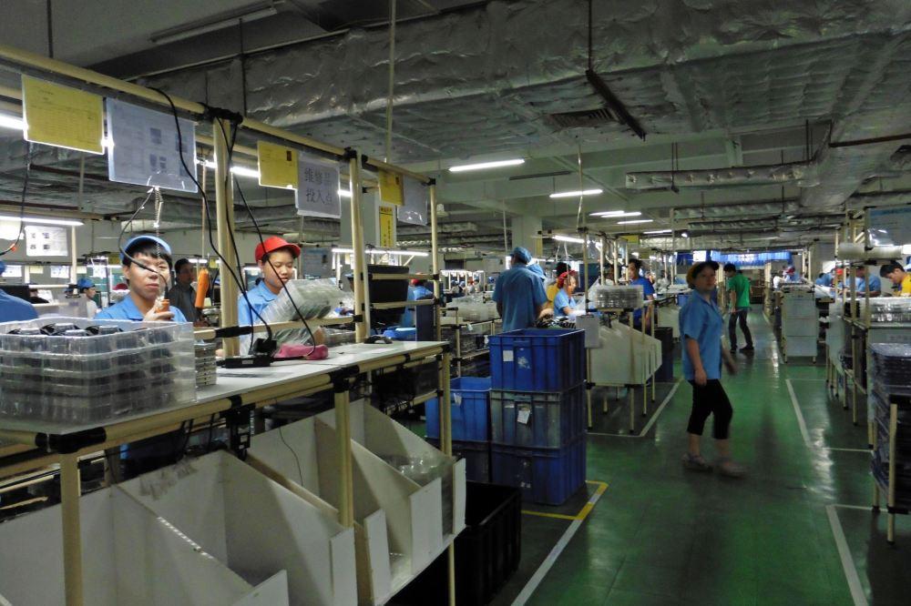 Bijna alle tech wordt in Chinese fabrieken zoals deze van G-tech Electronics in Zhuhai gemaakt