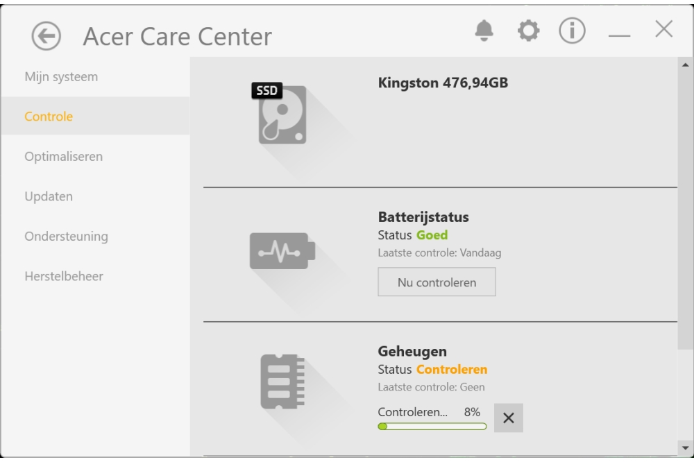 Acer Aspire 5 Care Center