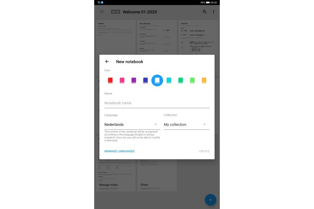 MyScript Nebo for Huawei notitie-app