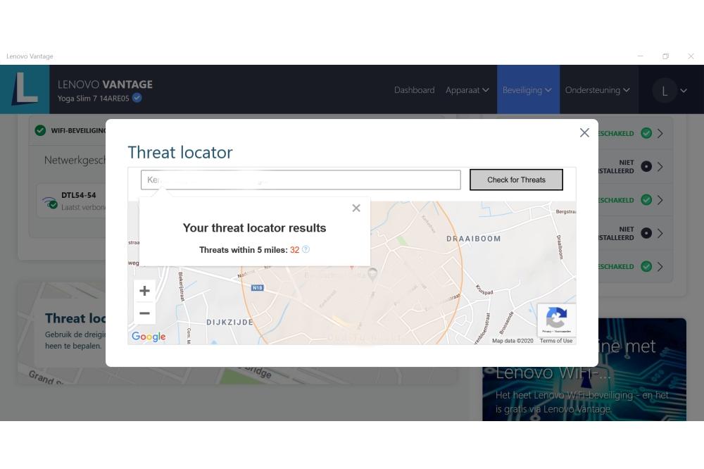 Lenovo Vantaga WiFi Security