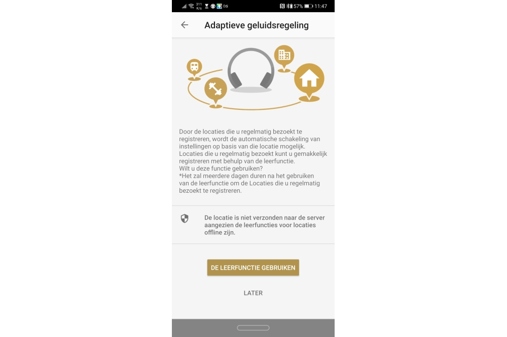 Sony WH-1000XM4 app adaptieve geluidsregeling