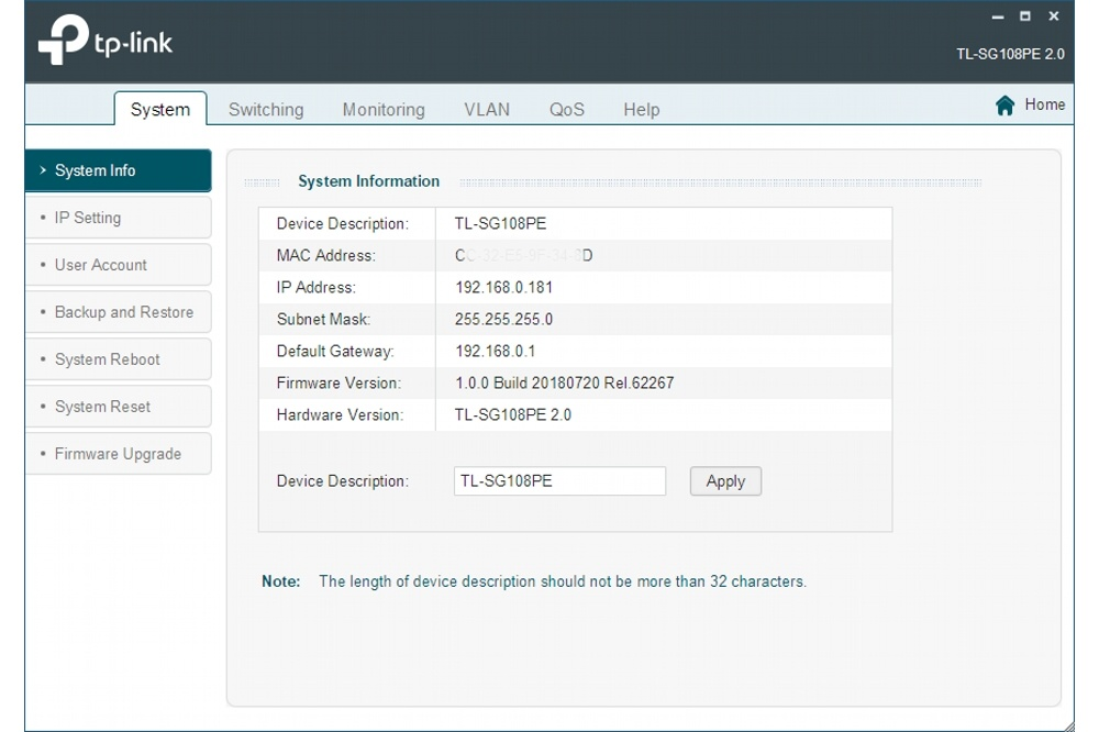 Je beheert de TP-Link switches via de ingebouwde webinterface of met behulp van een Windows-app.