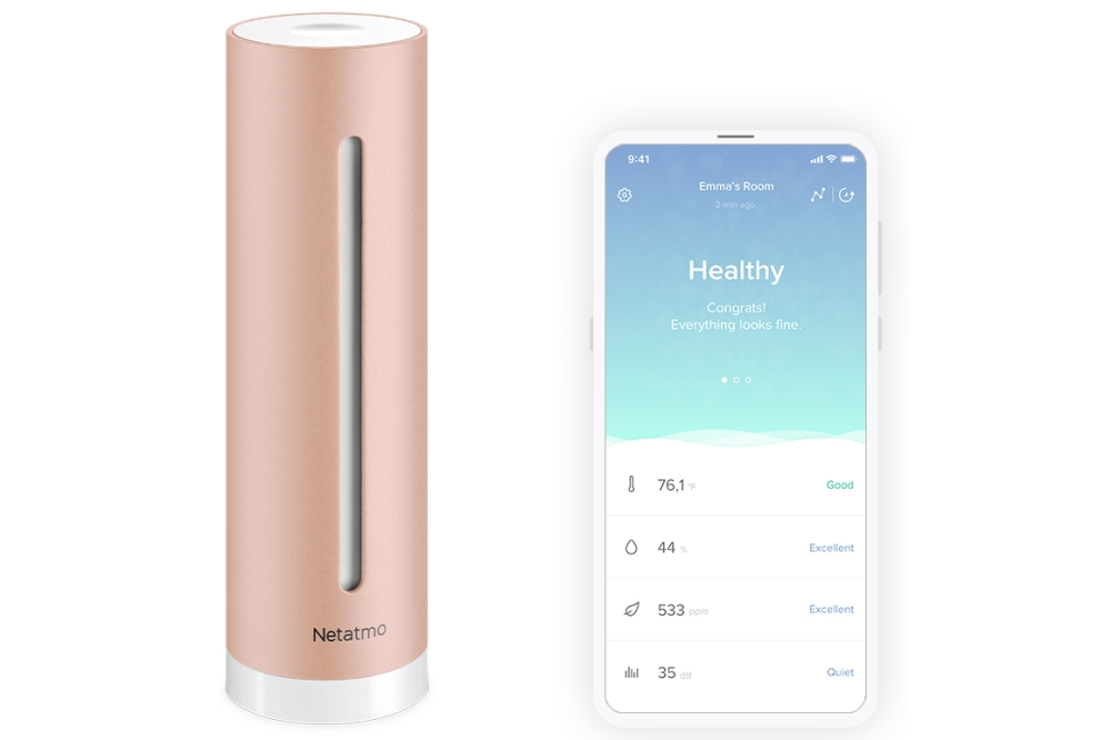 Netatmo luchtkwaliteitmonitor en app